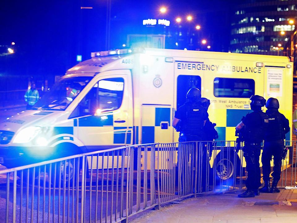 Ambulance service says only three paramedics deployed inside blast-hit foyer because they were triaging patients