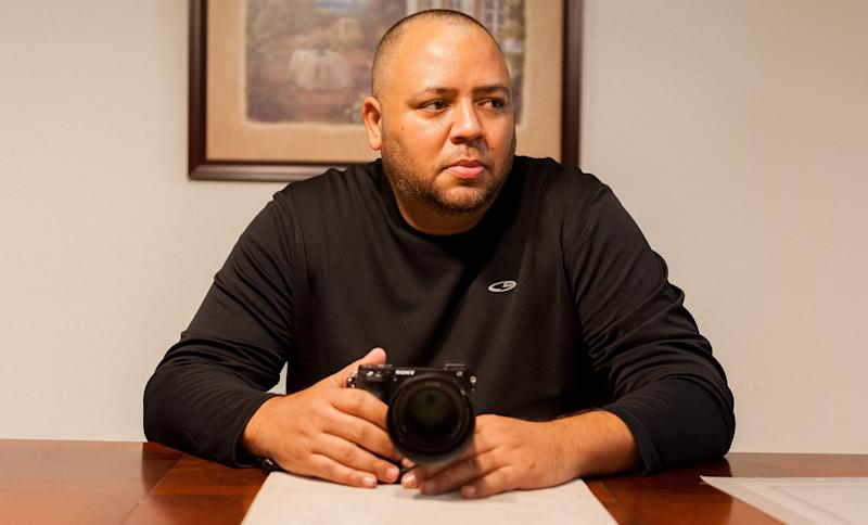 Omar Delgado, one of the first police officers to arrive at the scene of the Pulse nightclub shooting last year, was denied funds to treat his PTSD. He now uses photography as a way to cope with the stress. (Chris McGonigal/HuffPost)