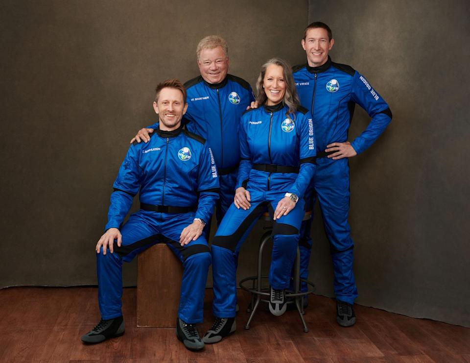 <p>Shatner is flying with a crew who have all contributed to space exploration. Chris Boshuizen is a former NASA engineer, Glen de Vries is co-founder of software company Medidata and Audrey Powers is vice president of mission and flight operations at Blue Origin.</p>