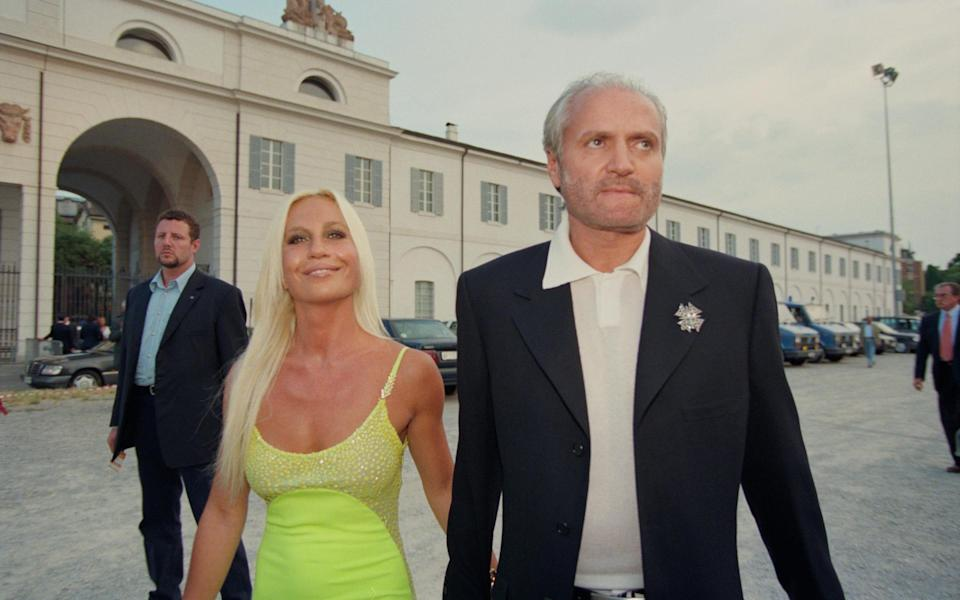 Donatella and the late Gianni Versace - Getty