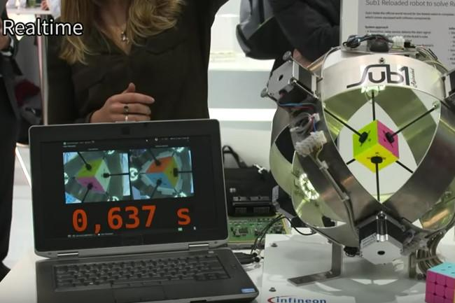 Watch this robot solve a Rubik's Cube in a fraction of a second