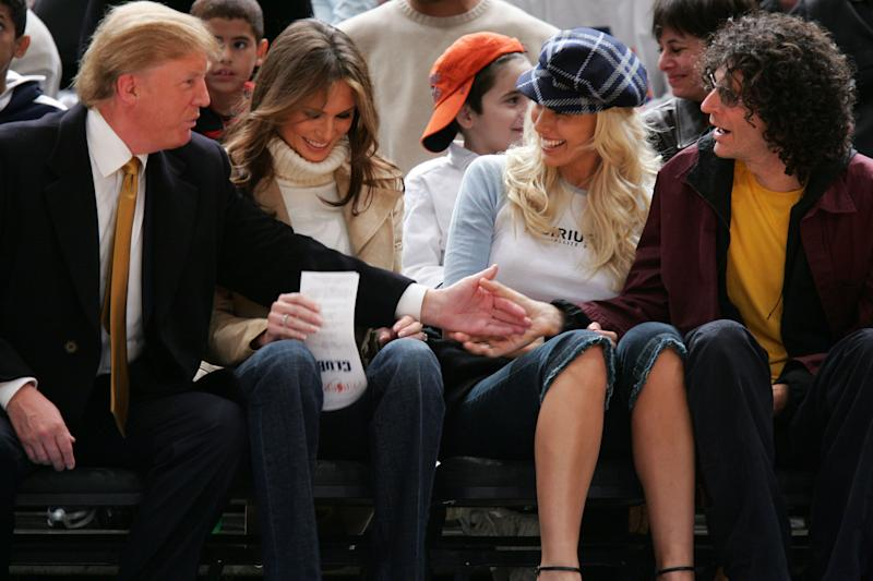 """Trump <a href=""""http://www.huffingtonpost.com/entry/donald-trump-howard-stern-women_us_57dae5e3e4b0071a6e05e2c2"""">recently said</a> that if he'd known he was going to run for president some day, he wouldn't have gone on Howard Stern's show in the past, where he&nbsp;<a href=""""https://www.buzzfeed.com/andrewkaczynski/donald-trump-said-a-lot-of-gross-things-about-women-on-howar"""" target=""""_blank"""">assigned actresses numerical rankings</a> based on what he thinks about their looks and analyzed their f**kability. But he also <a href=""""http://www.huffingtonpost.com/entry/donald-trump-howard-stern-women_us_57dae5e3e4b0071a6e05e2c2"""">stood by those conversations</a>, saying they were all in jest. """"We have fun,"""" he said of going on Stern's show. """"So we&rsquo;ll talk about women, we&rsquo;ll talk about men, we&rsquo;ll talk about everything, and we&rsquo;re all having a good time."""" Ha."""