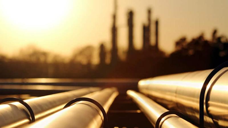 Oil pipes in an oil field