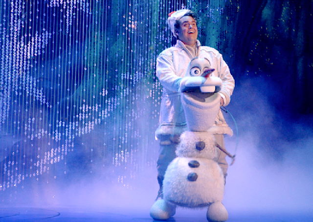 Olaf is puppeteered and voiced by Greg Hildreth.