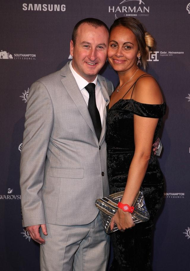 Andrew Whyment and wife Nicola