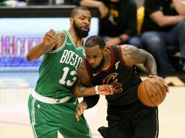 LeBron James and the Cleveland Cavaliers powered their way back into their NBA Eastern Conference Finals after thrashing the Boston Celtics 116-86 on Saturday.