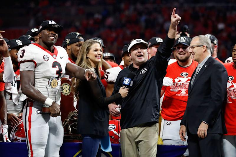 Georgia Bulldogs 2017 Sec Champions >> Georgia Bulldogs' past champions cheered on current ones