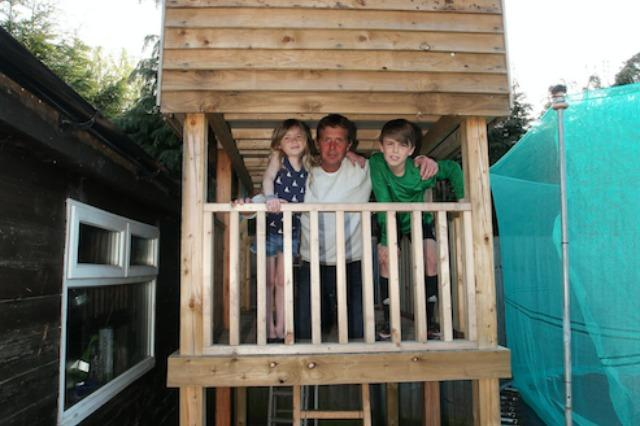 The family in the playhouse