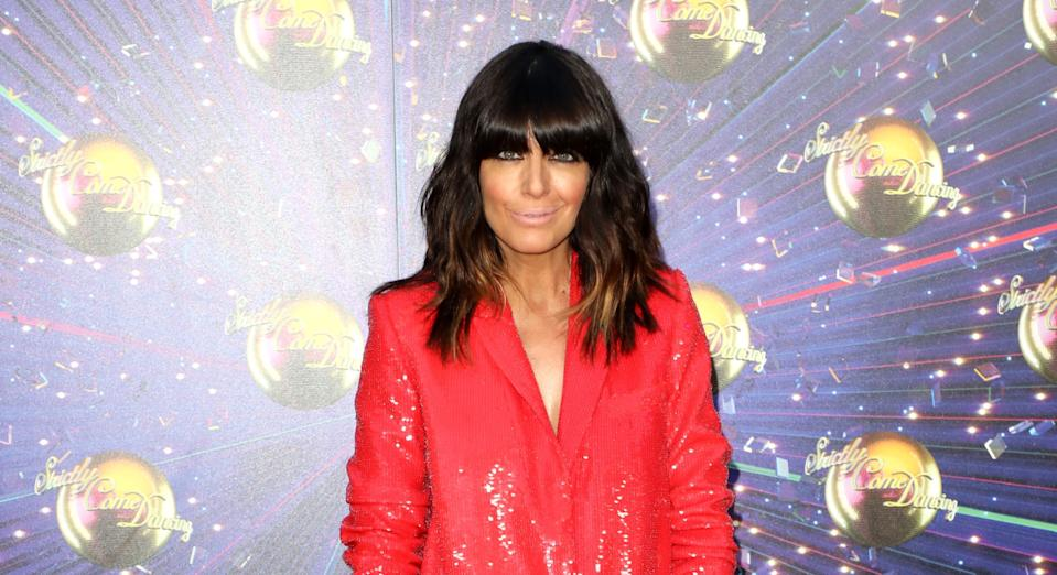 Claudia Winkleman's stylist Sinead McKeefry turns to Net-a-Porter and Zara for the star's eye-catching ensembles. (Getty Images)