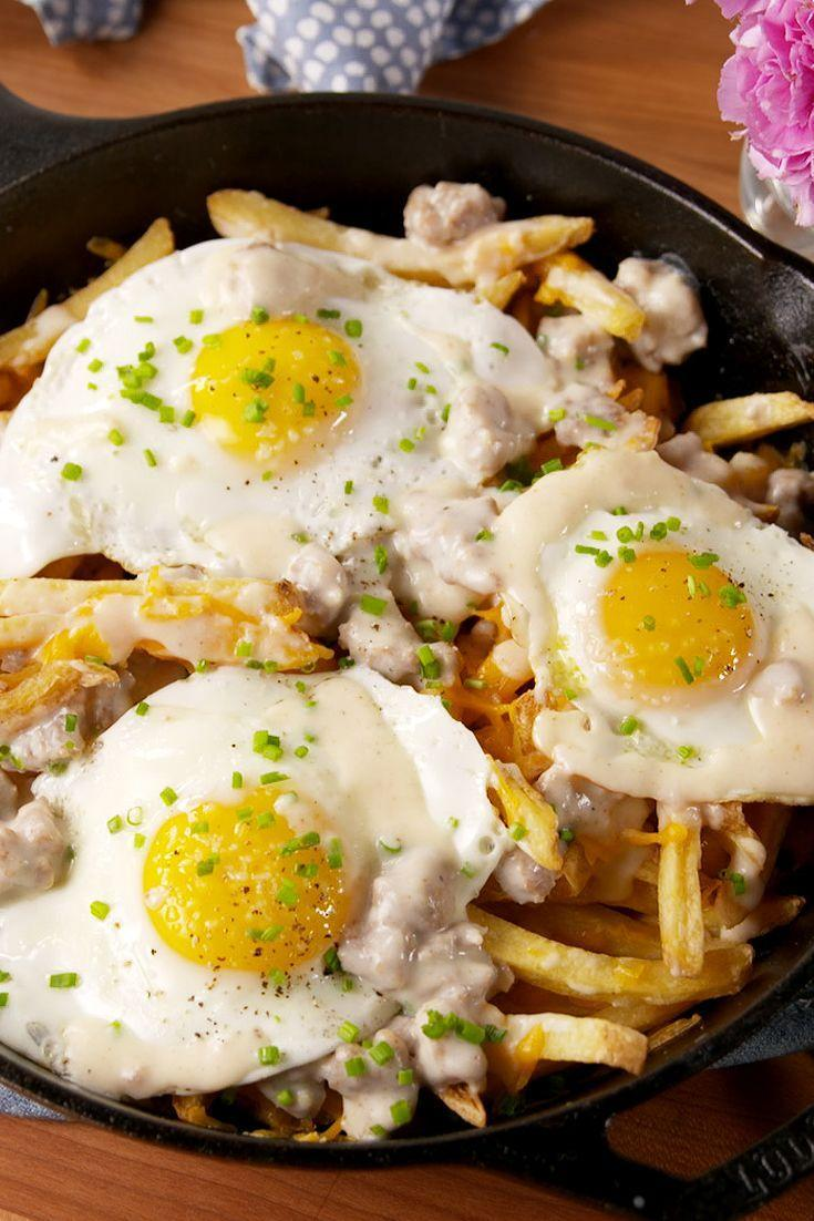 """<p>Because the best days start with fries.</p><p>Get the recipe from <a href=""""/cooking/recipe-ideas/recipes/a51751/loaded-breakfast-fries-recipe/"""" data-ylk=""""slk:Delish"""" class=""""link rapid-noclick-resp"""">Delish</a>.</p>"""