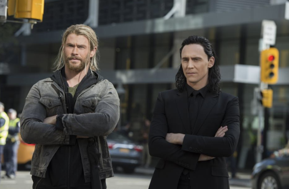 Thor and Loki in their earthly garb. (Photo: Marvel Studios)