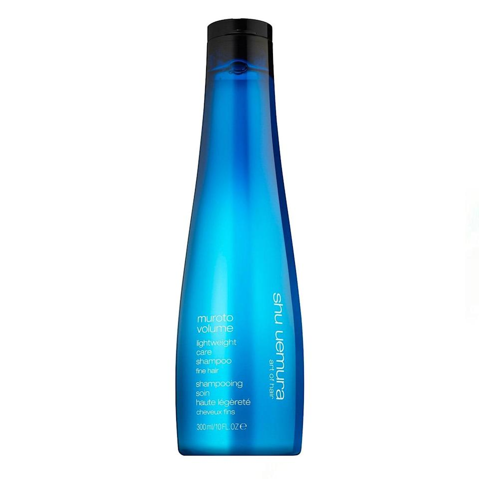 "My hair is about as flat and fine as it comes, so I'm all about a volumizing shampoo that's made without any silicones (grease city!) but still gives great volume and hydration. This teamed with Shu Uemura's conditioner actually gives me clean, bouncy hair that doesn't need a shot of dry shampoo come 2 p.m. I'm obsessed. —<em>L.S.</em> $49, Shu Uemura. <a href=""https://shop-links.co/1734340381197470984"" rel=""nofollow noopener"" target=""_blank"" data-ylk=""slk:Get it now!"" class=""link rapid-noclick-resp"">Get it now!</a>"