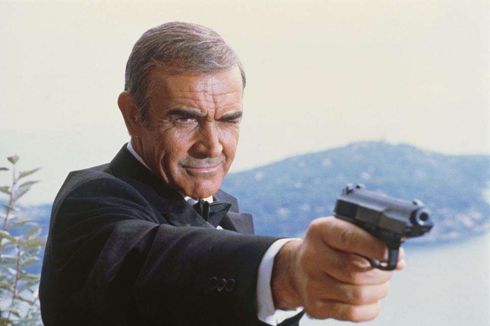 A picture of Sean Connery as 007.