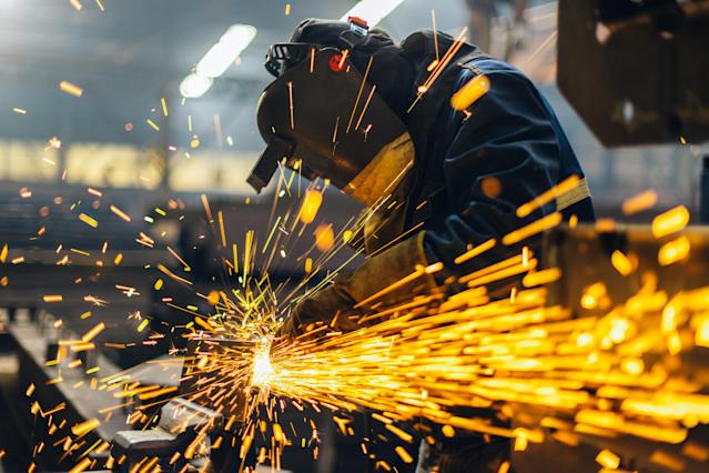 Metal worker using a grinder. Photo: Getty