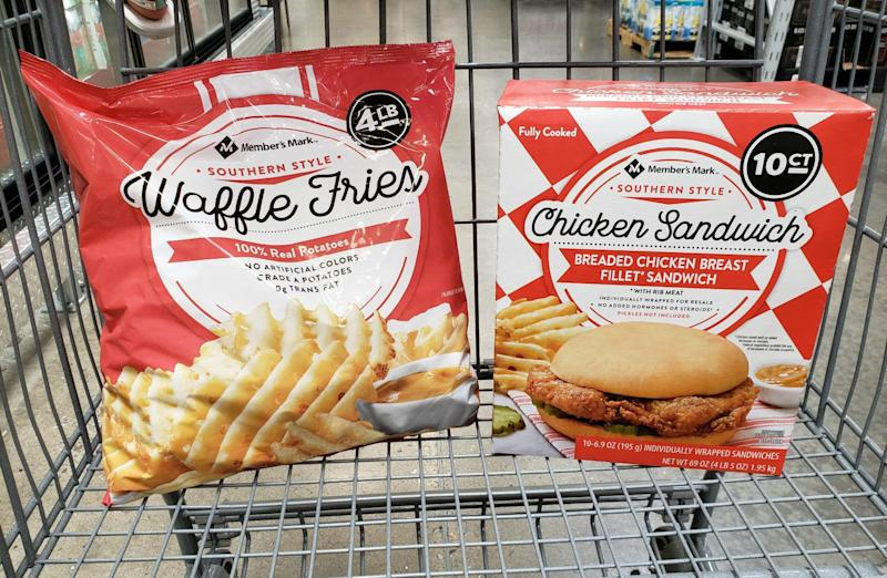 Sam's Club's new chicken sandwich and waffle fries look a lot like Chick-fil-A