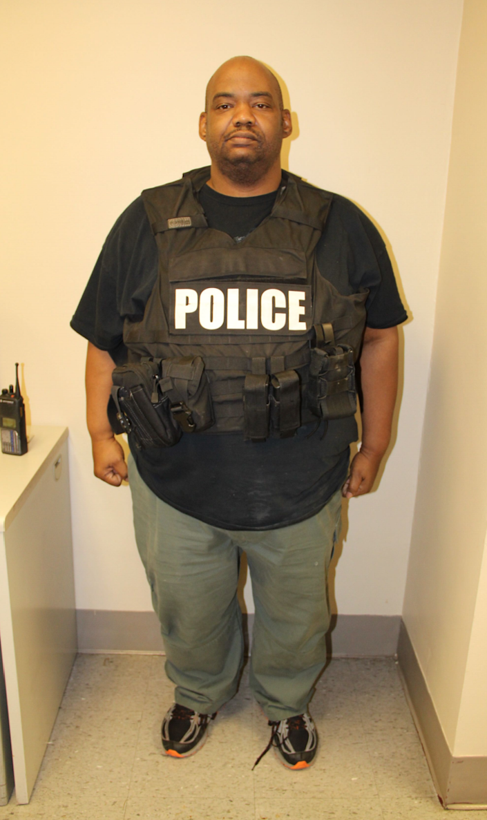 Louisville Metro Police Detective Michael Campbell, as photographed after the shooting at Breonna Taylor's apartment.