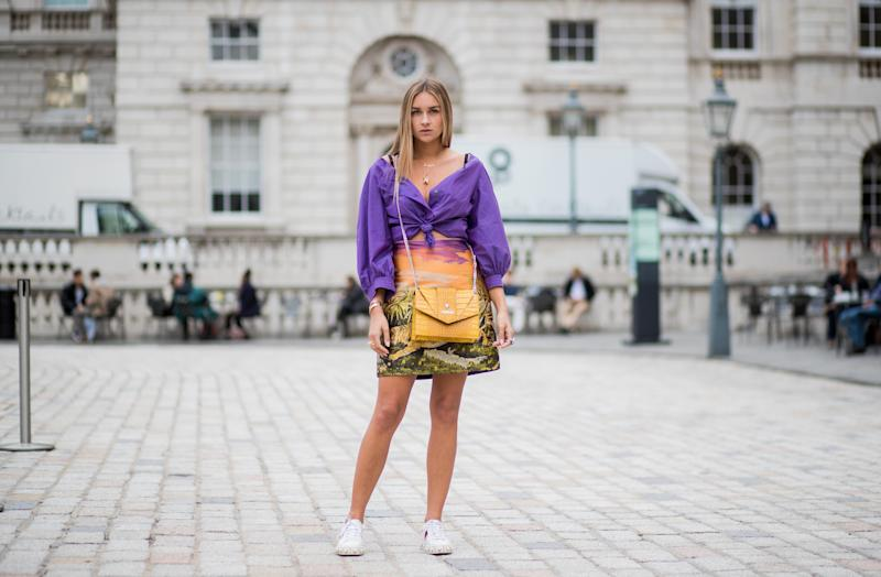 Outside London Fashion Week on Sept. 19. (Christian Vierig via Getty Images)