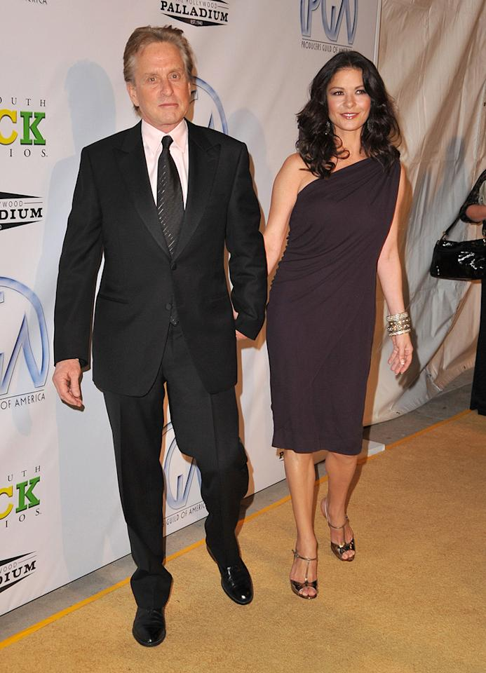"<a href=""http://movies.yahoo.com/movie/contributor/1800012782"">Michael Douglas</a> and <a href=""http://movies.yahoo.com/movie/contributor/1800019539"">Catherine Zeta-Jones</a> at the 20th Annual Producers Guild Awards in Hollywood - 01/24/2009"
