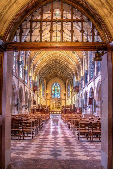 """<p>This private, residential liberal arts college is owned by 28 southern dioceses of the Episcopal Church, hence the grandiose All Saints' Chapel. The university sits on atop sweeping 13,000 acres on the scenic Cumberland Plateau. </p><p><em>photo: </em><a href=""""https://www.flickr.com/creativecommons/"""" rel=""""nofollow noopener"""" target=""""_blank"""" data-ylk=""""slk:Flickr Creative Commons"""" class=""""link rapid-noclick-resp""""><em>Flickr Creative Commons</em></a><br></p>"""