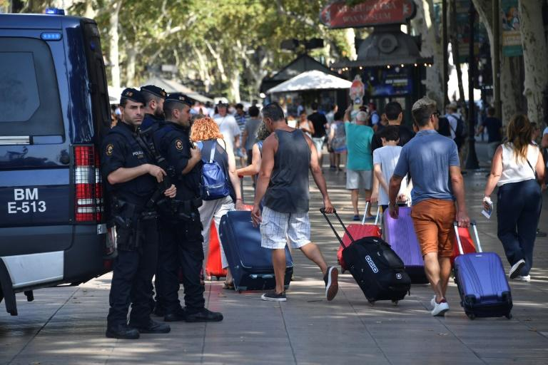 Security has been tightened after the van rampage on Barcelona's popular Las Ramblas boulevard