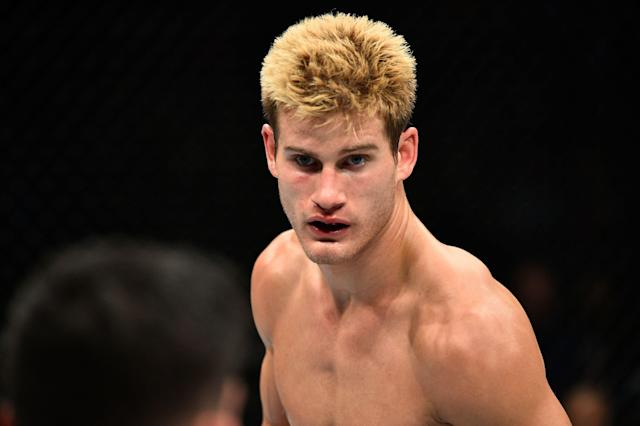 Sage Northcutt was knocked out in 29 seconds on Friday, and had to undergo a nine-hour surgery to repair multiple fractures in his face. (Brandon Magnus/Getty Images)
