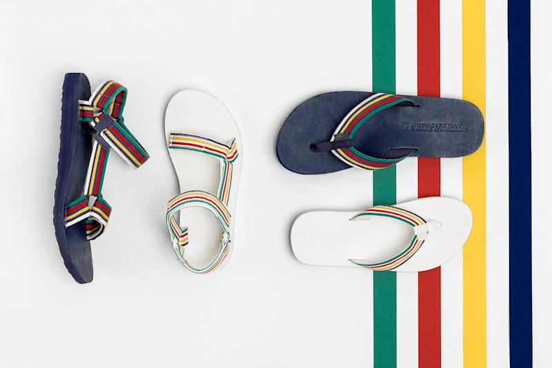 45f2b42aa1780 Two Iconic Brands Partner For a Collection of Outdoor-Inspired Sandals