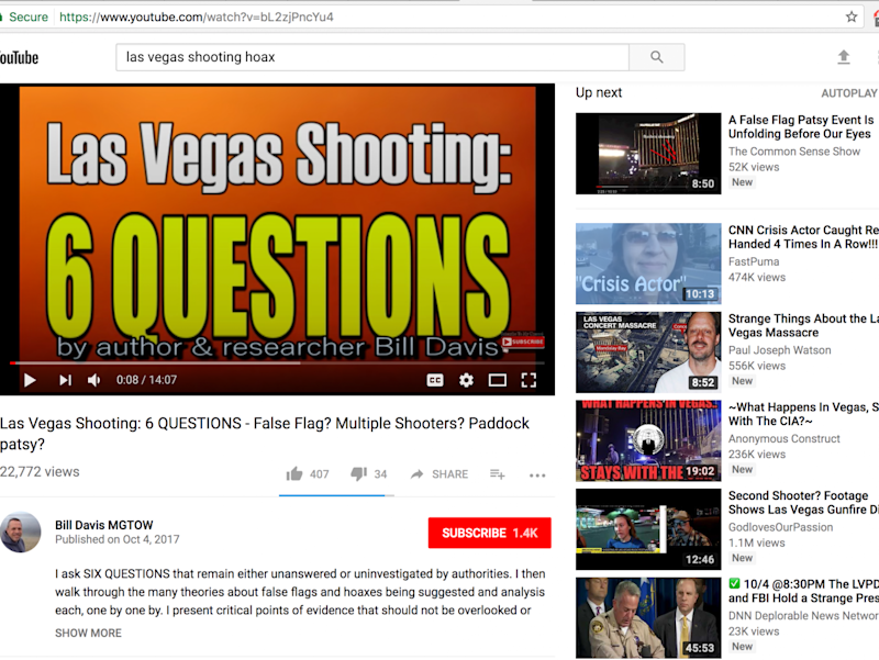Suggested videos are displayed next to a YouTube video titled