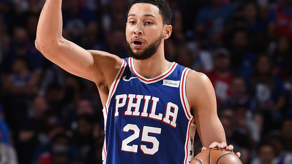Ben Simmons has made just 22 of 67 shots from the free throw line throughout the NBA Playoffs so far. (Photo by David Dow/NBAE via Getty Images)