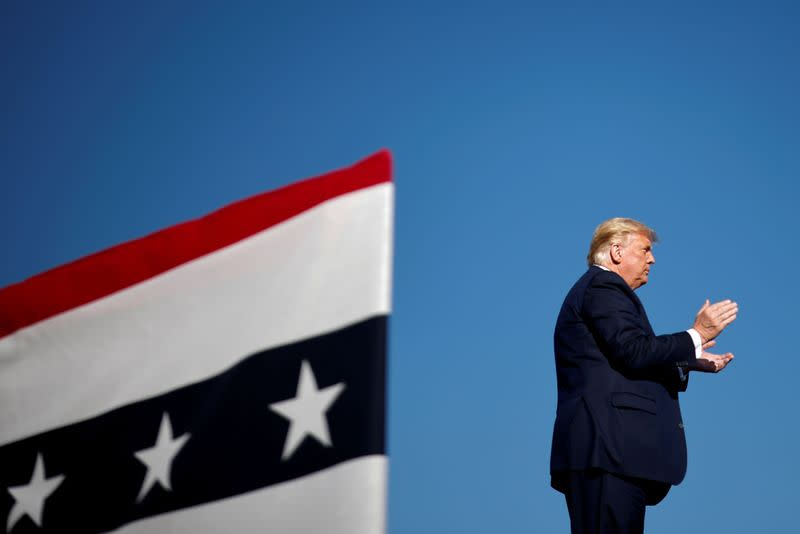 FILE PHOTO: U.S. President Donald Trump holds a campaign rally in Carson City, Nevada
