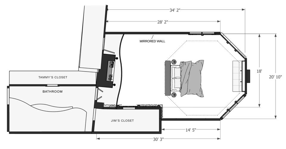 A closer look at how Laura Fox mapped out the Bakker's bedroom