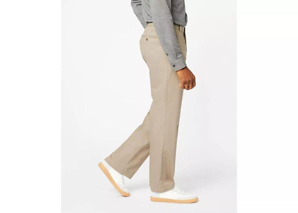 Dockers Signature Front Classic Fit Chino Pants, packable clothing / wrinkle free travel clothing