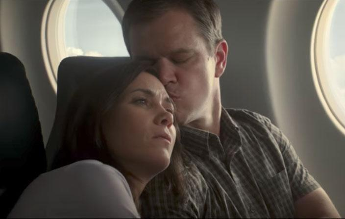 The new Downsizing trailer introduces viewers to a very different world, where humans shrink down to five inches in height as a solution to the issue of over-population. Source: Paramount Pictures
