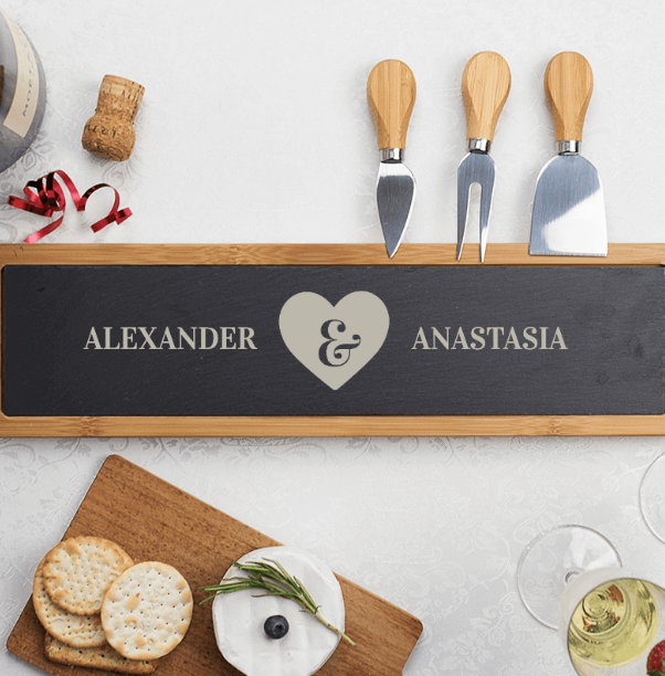 The Personalised Gift Shop Personalised Love Heart Cheese Board - $74.50