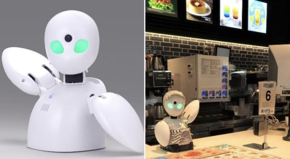 MOS Burger's Osaki outlet in Tokyo, Japan rolled out a remote-controlled robot cashier OriHime so that employees who cannot leave their homes can continue to work and earn an income.
