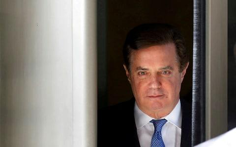 Paul Manafort after an earlier hearing  - Credit: Yuri Gripas/Reuters