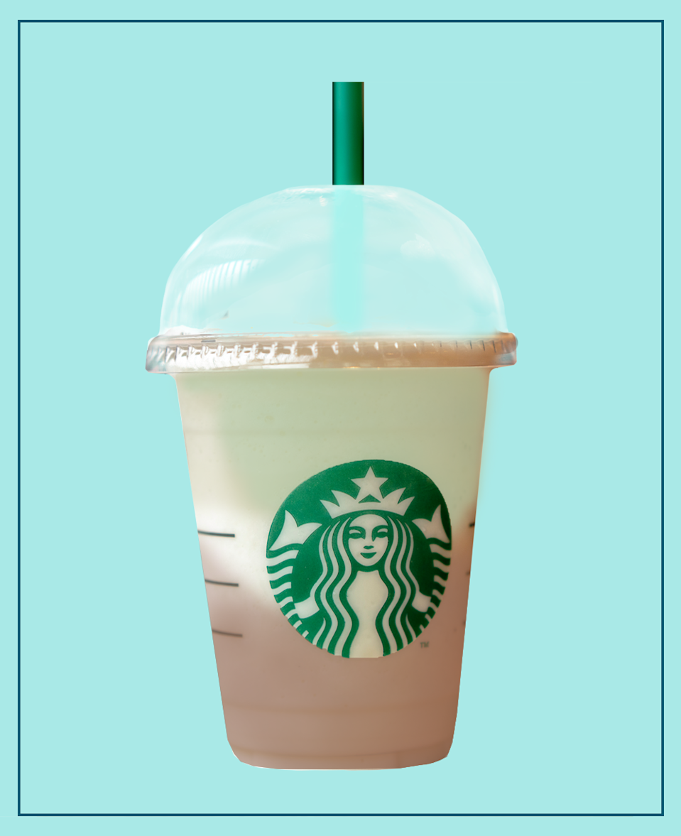 <p>Literally exactly how you'd imagine Mint Aero Bubbles in drink-form. </p><p><strong>What should I ask for? </strong>Iced Hot Chocolate (only half full), topped with an Iced Matcha Latte with Peppermint Syrup.</p>