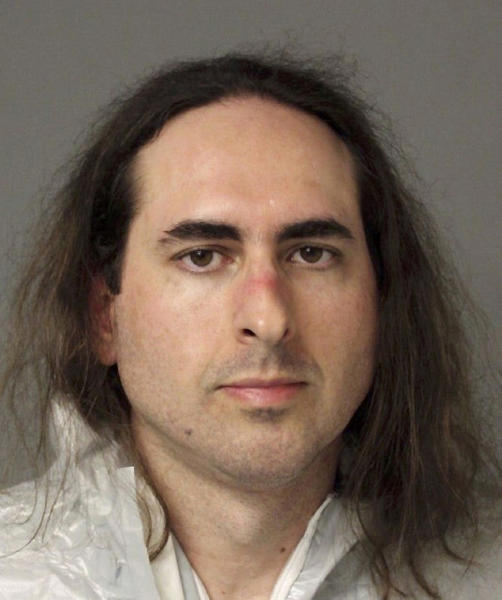 FILE - This June 28, 2018, file photo provided by the Anne Arundel Police shows Jarrod Ramos in Annapolis, Md. Ramos who is charged with five counts of first-degree murder in a shooting at a newspaper has pled not guilty and not criminally responsible. A pool of 300 potential jurors will be in a Maryland court on Friday, Sept. 27, 2019, to answer questions about the mass shooting at the Capital Gazette newspaper that killed five people last year. (Anne Arundel Police via AP, File)