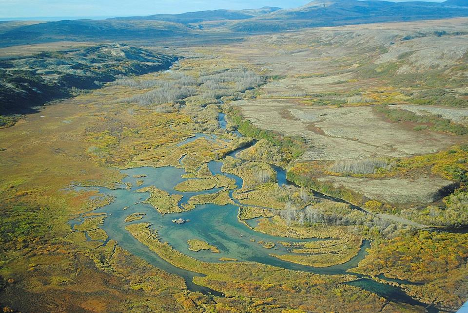 An aerial photo of Alaska's Bristol Bay watershed in Alaska. The area is home to the largest wild sockeye salmon fishery in the world. (Photo: Environmental Protection Agency via Reuters)