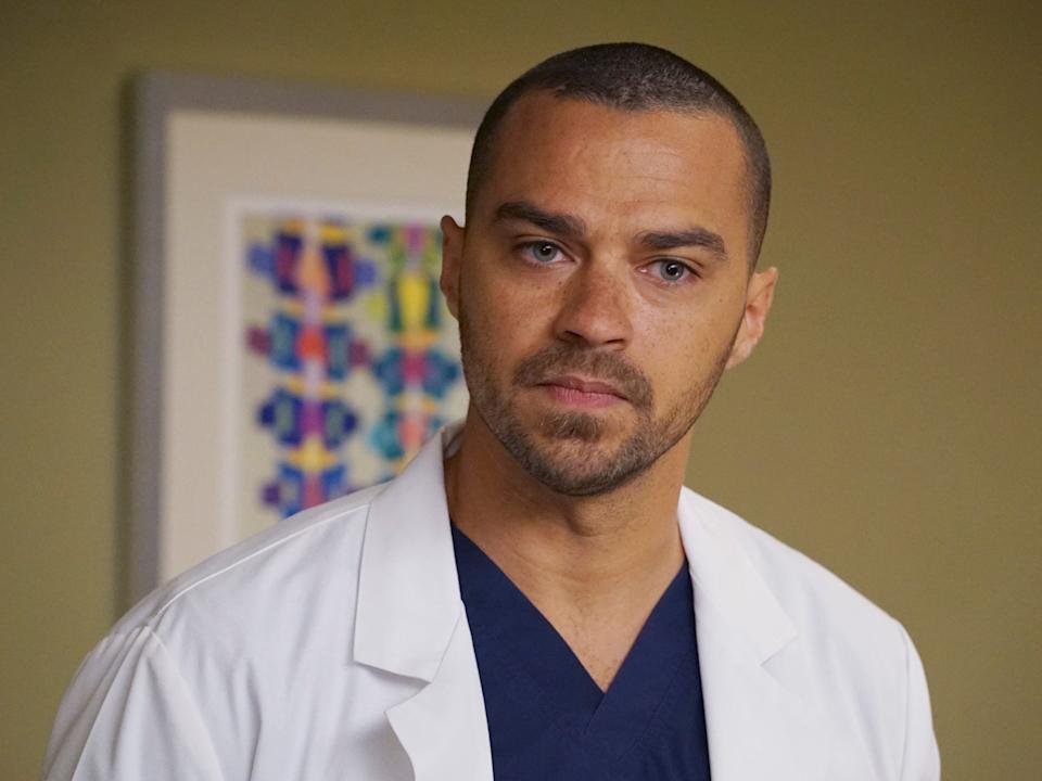 "Jesse Williams on the set of ""Grey's Anatomy."" <p class=""copyright"">Eric McCandless/Walt Disney Television via Getty Images</p>"