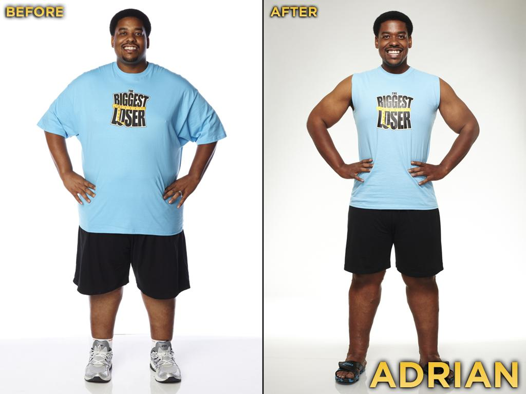 Adrian was this one of this season's most annoying contestants, but he is actually an endearing guy! Unfortunately, he and Adrian were put in an awkward situation, and instead of taking Mark and others' advice (keep quiet, play along), he chose to stir up drama. He started the competition at 370 pounds, weighed 262 pounds at the finale, and thus lost 29.19% during the season.