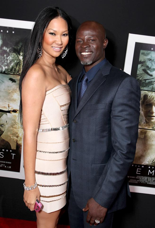 "HOLLYWOOD, CA - DECEMBER 06:  Kimora Lee and Djimon Hounsou at the Los Angeles Premiere of Touchstone Pictures and Miramax Films ""The Tempest"" at the El Capitan Theatre on December 6, 2010 in Hollywood, California.  (Photo by Eric Charbonneau/WireImage) *** Local Caption *** Kimora Lee;Djimon Hounsou"