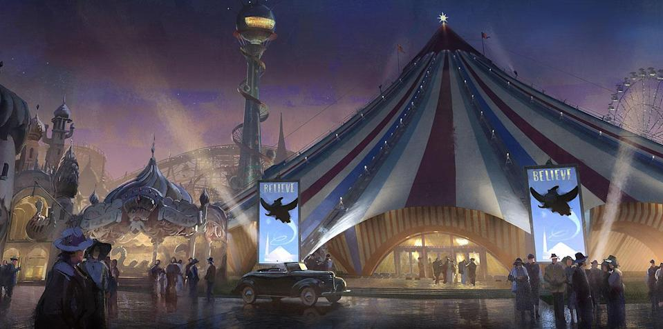 <p>Vandevere's Dreamland circus is a permanent amusement park in Coney Island, New York, and was inspired by real parks built on the site in the early part of the 20th century. (Disney) </p>