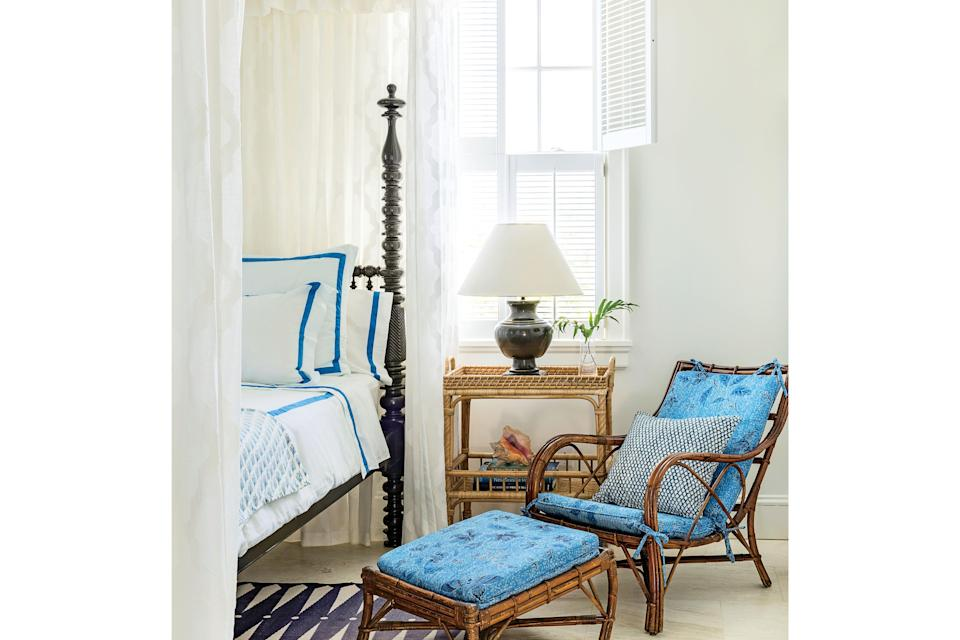 <p>A favorite reading chair turns the bedroom into a sweet daytime hideaway. Design by Amanda Lindroth.</p>
