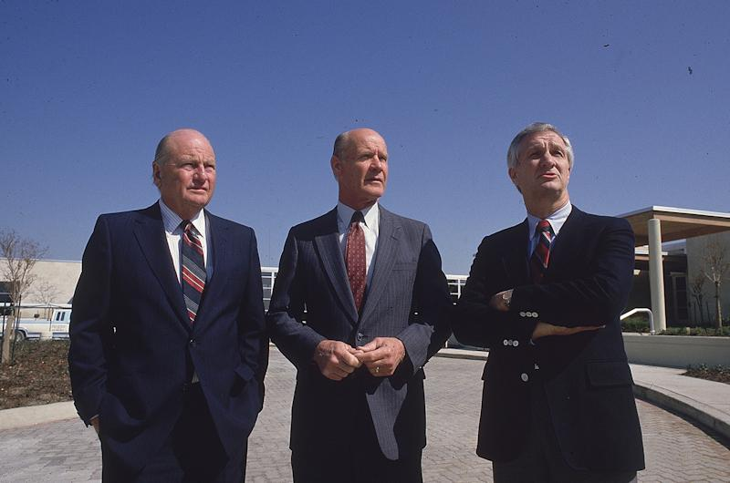 From left to right: Tex Schramm, Tom Landry and Gil Brandt. | Carl Iwasaki