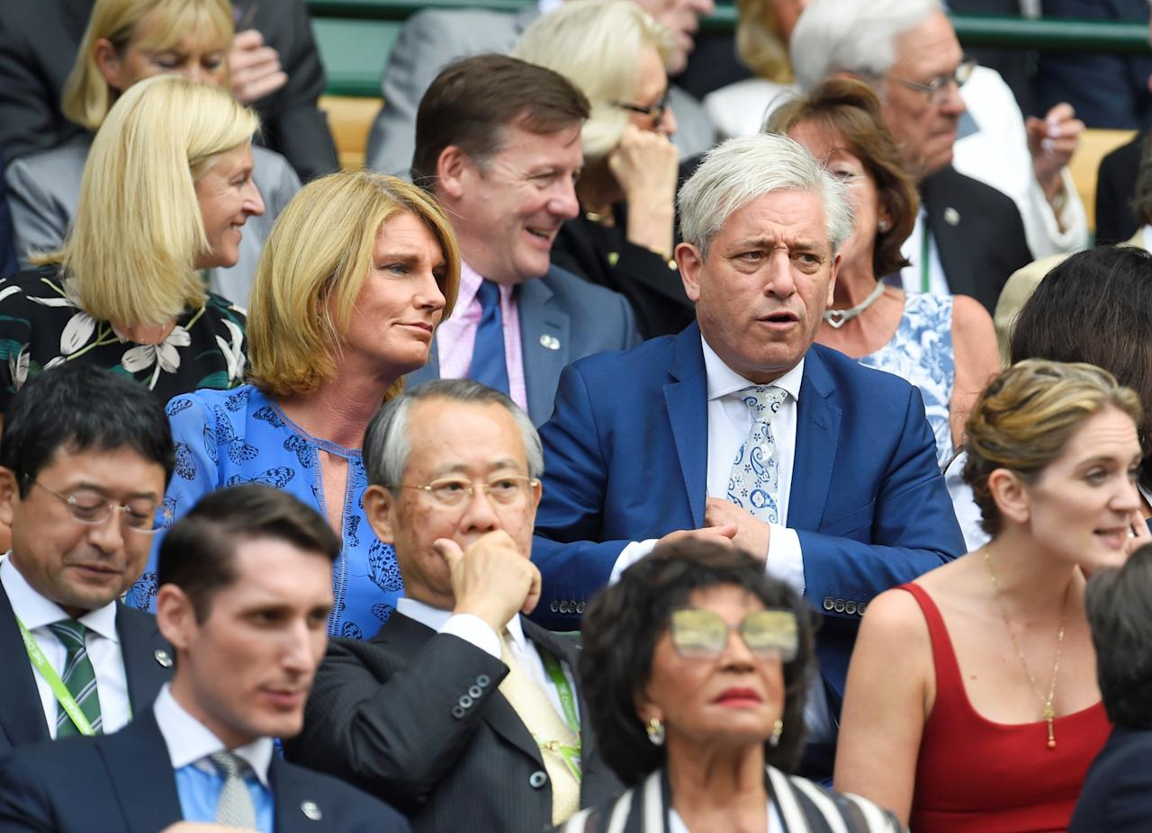 <p>House of Commons Speaker John Bercow is a huge sports fan with a particular fondness for tennis. In the updated register Bercow declared two free tickets for the Royal Box at Wimbledon, amounting to a total of £8,590 in gifts. Bercow was there to see the Women's Singles Semi Finals, including Britain's Johanna Konta losing to Venus Williams. Labour's deputy leader also attended Wimbledon, though he received a more modest gift of lunch and tickets that totalled £302. (Reuters/Toby Melville) </p>