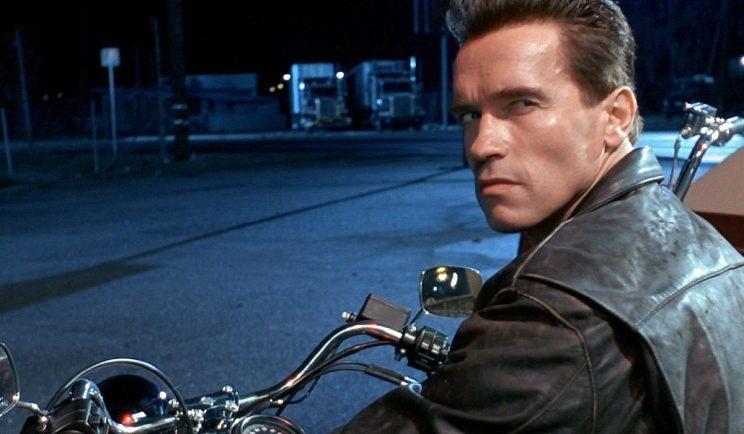 Arnold Schwarzenegger in T2: Judgement Day - Credit: Orion Pictures