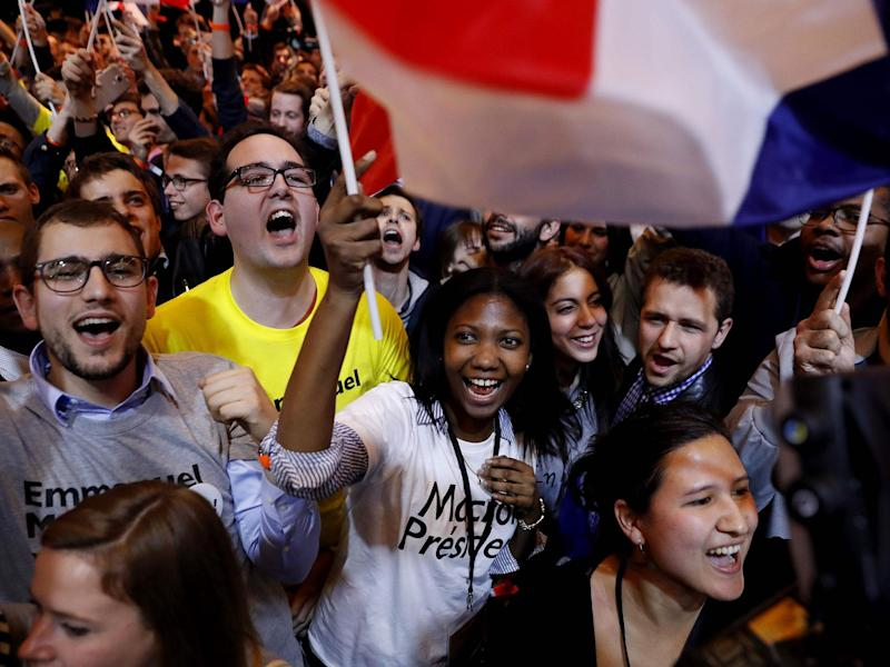 Macron mobilised support with his En Marche! movement: AFP