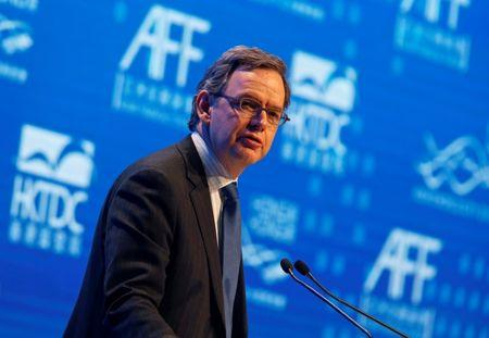 FILE PHOTO: Maijoor addresses the Asian Financial Forum in Hong Kong