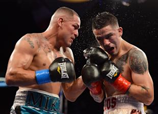 Mike Alvarado doled out some serious punishment before being stopped by Brandon Rios. (Getty Images)