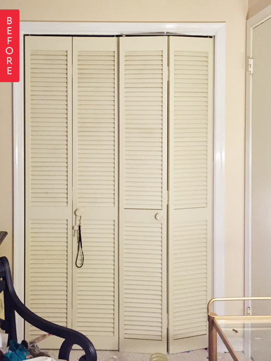 Perfect From Ho Hum To High Glam: A Closet Door Makeover